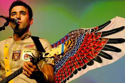 Sufjan Stevens with angel wings