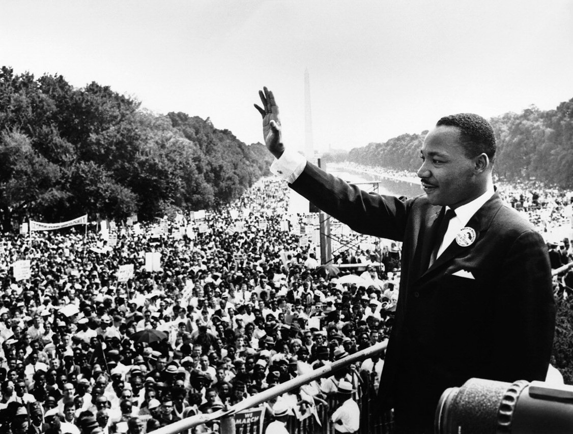 Martin Luther King addressing the public