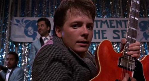 Michael J Fox as Marty McFly