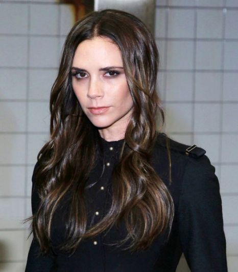 Victoria Beckham looking gaunt and gothlike