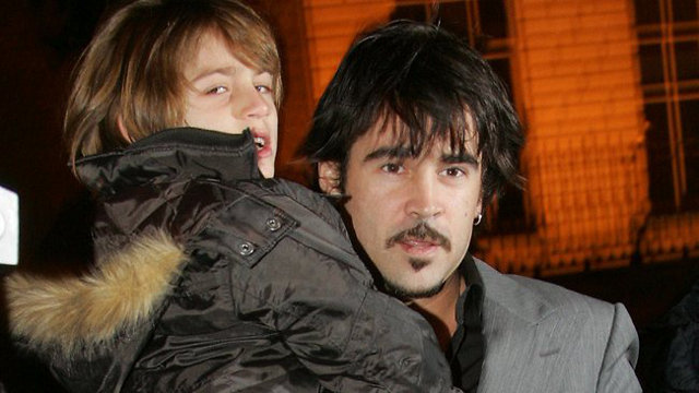 Colin Farrell with his son James