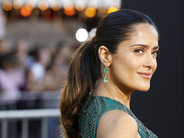 Salma Hayek before her pregnancy and diabetes problems