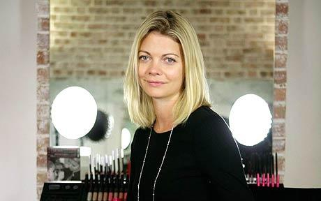 Jemma Kidd in her make-up studio