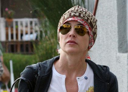 Sharon Stone after her aneurysm