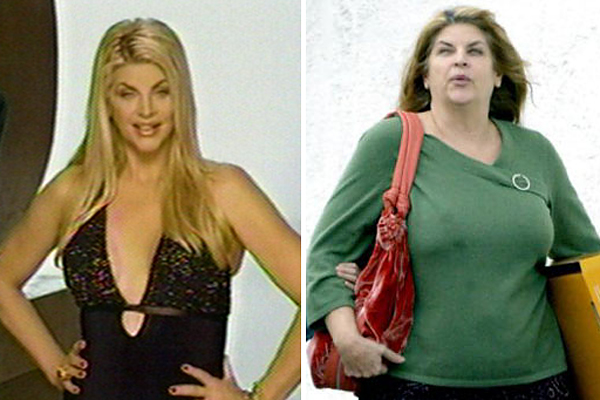 Kirstie Alley has become like a pair of bellows.  Her weight loss and gain has been well covered by the press