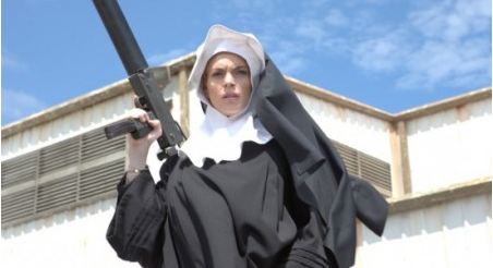 Lindsay Lohan in Machete. She was no saint in that film either