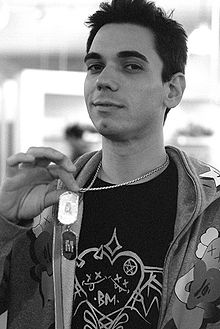 DJ AM in happier times. Taken before his weight ballooned due to depression and other factors.
